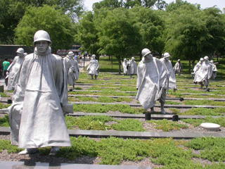 Korean War memorial in DC