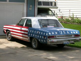 Patriotic car