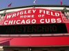 Wrigley Field sign at Clark and Addison